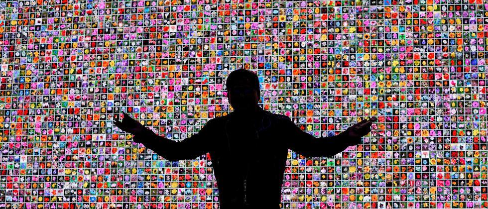 Der Chiphersteller Nvidia auf seiner CES-Pressekonferenz