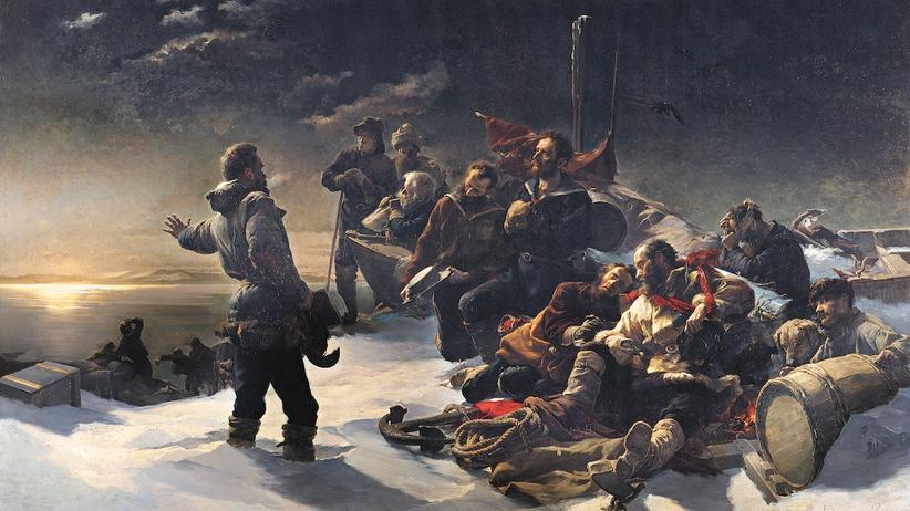"""""""Nie zurück"""", Gemälde von Julius Payer"""