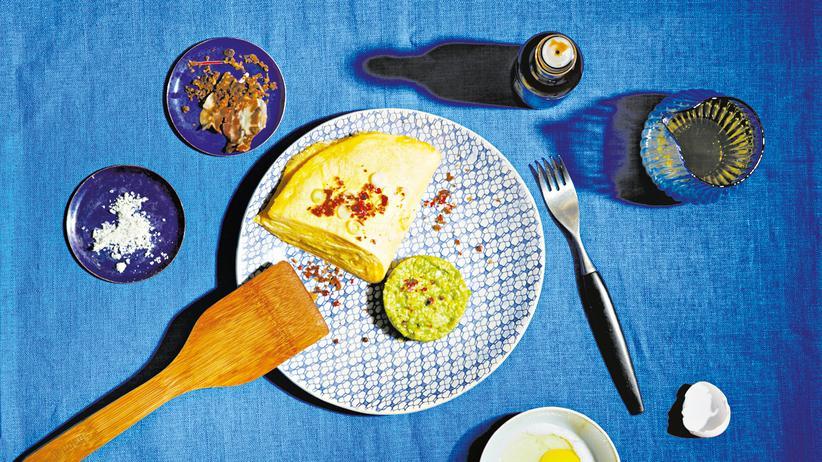 Omelett mit Käse und Speck: Speck braucht Zeit