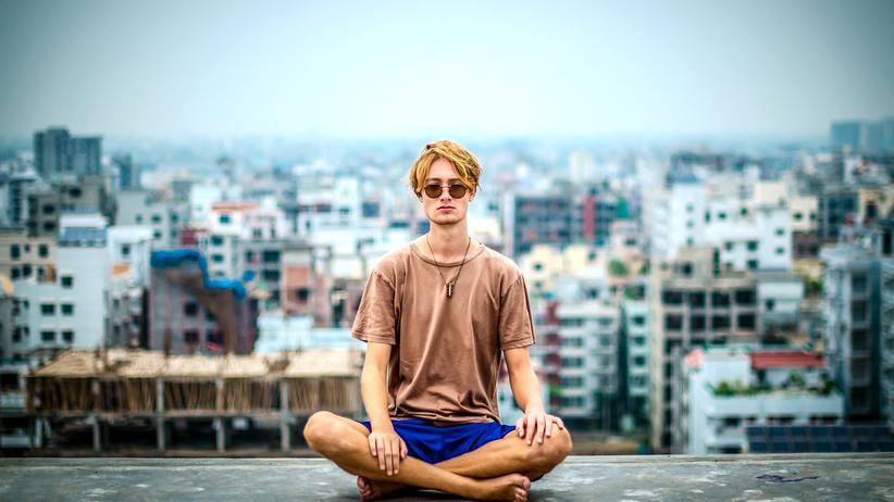 Entspannung im Büro: Ja, Mutti. Namaste.