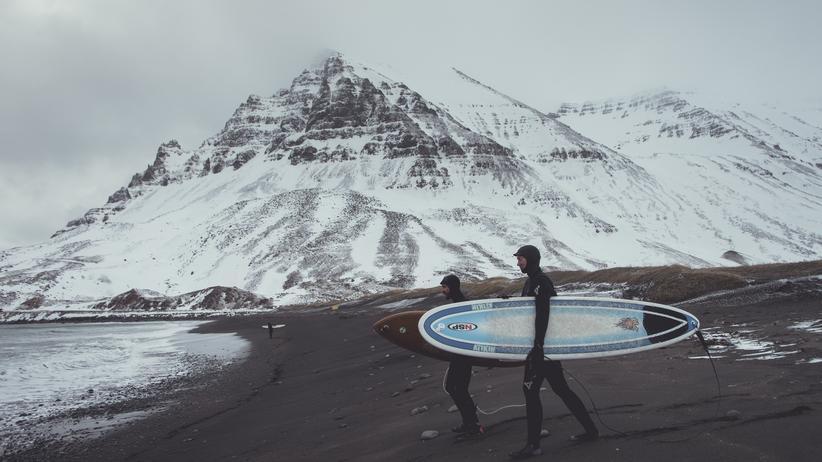 Entdecken, Island, Wintersport, Winter, Snowboarden, Island, Ski