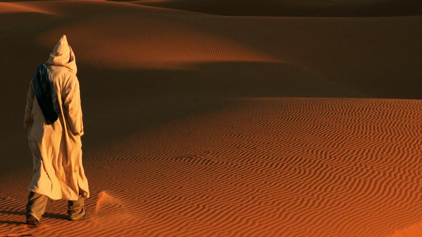 Sahara: Keine Menschen, kein Stress, aber jede Menge Sand.