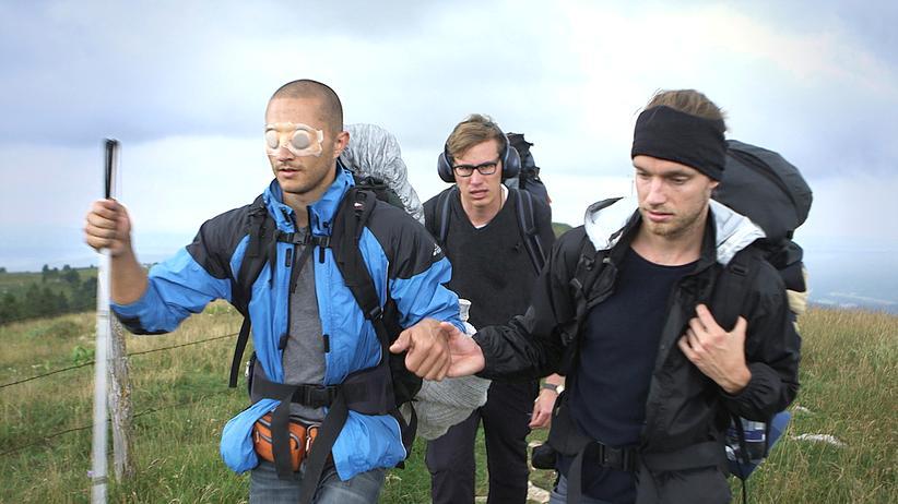 Drei von Sinnen: Bart, Jakob und David (v. l. n. r.) auf ihrer Reise.