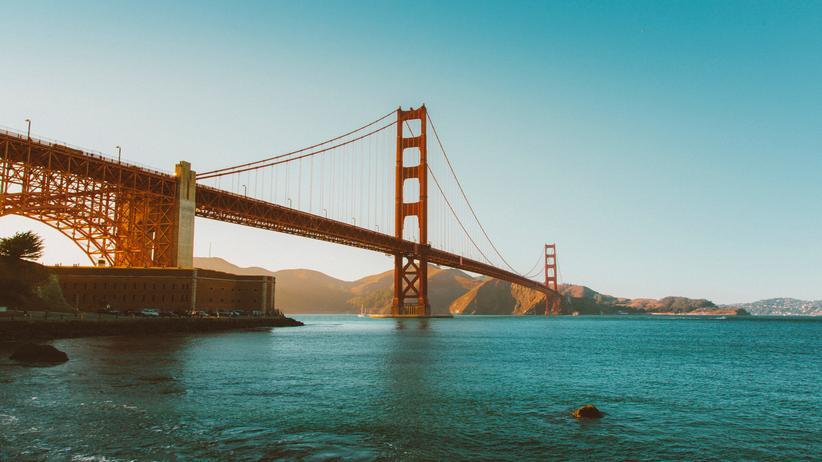 Wohnungstausch: Für drei Monate wohnten die Autoren in der Bay Area von San Francisco mit Blick auf deren Wahrzeichen: die Golden Gate Bridge.