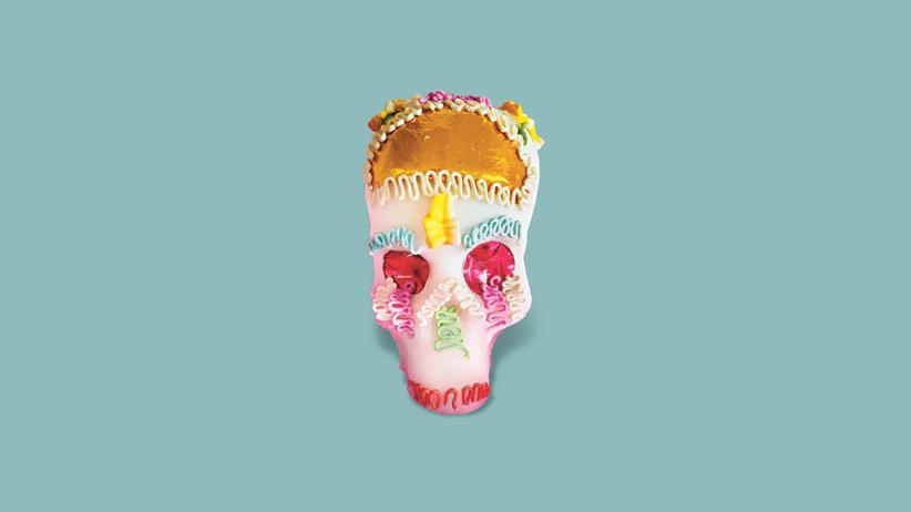 Mexiko: Hat als Einziger überlebt: der Totenschädel aus Zucker.