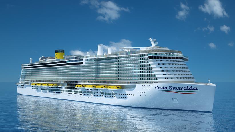 """Kreuzfahrtschiffe: Die Kreuzfahrtschiffe werden größer, erzeugen durch neue Technik aber auch weniger Emissionen. Die """"Costa Smeralda"""" soll 2019 auf Jungfernfahrt gehen und Platz für 6.600 Passagiere bieten."""