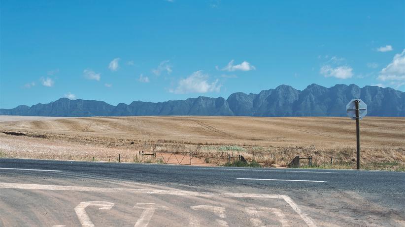 Südafrika: Rechts? Links? Abzweigen in Richtung Riviersonderend-Berge? Jenseits der N2 bei Greyton ist das alles nur eine Frage der Zeit, die man sich nehmen kann.