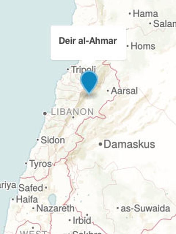 Karte Deir al-Ahmar