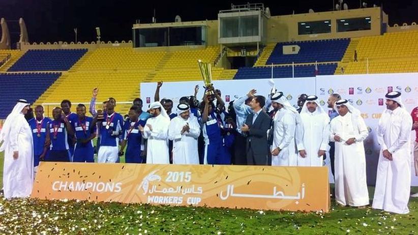 Die geehrten Sieger des Workers Cup