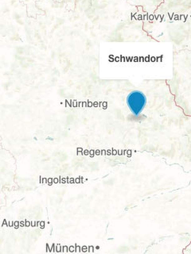 Karte Schwandorf
