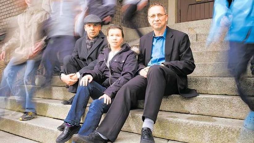 Geschäftsführer des Futurums in Mylau, mit den Elternsprechern Annett Hering und Gerhard Voigt
