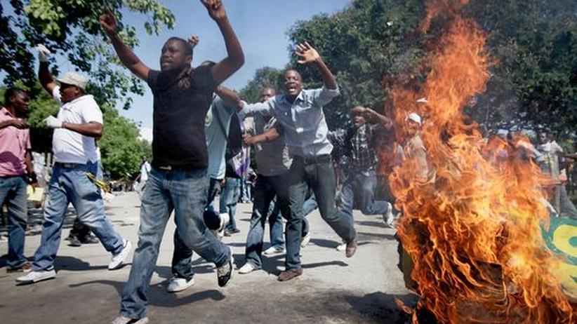 Proteste gegen UN-Blauhelmsoldaten in Haitis Hauptstadt Port-au-Prince