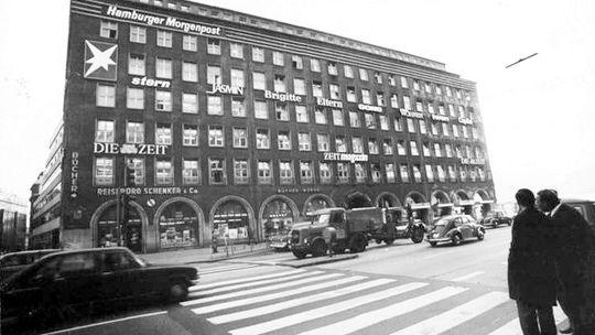 Das Pressehaus am Hamburger Speersort, Aufnahme von 1971