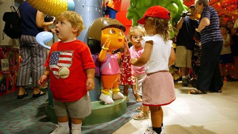 Kinder shoppen in New York