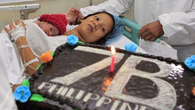 Weltbevölkerung: Die Vereinten Nationen küren die neugeborene Danica Camacho symbolisch als den siebenmilliardsten Menschen.