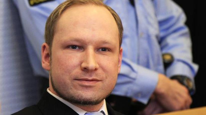 Der norwegische Attentäter Anders Behring Breivik bei einer Gerichtsanhörung im Februar
