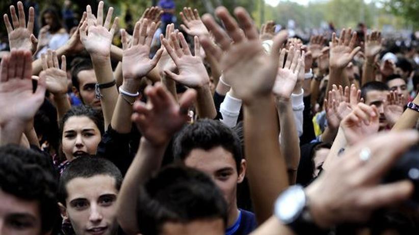 Jugendarbeitslosigkeit: Studenten bei einer Demonstration in Rom (Archivbild)