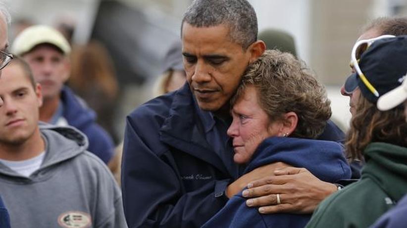 Wahlkampf nach Sandy: Obama macht den Schröder