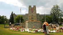 Gedenkstätte an der Universität Virginia Tech für die Opfer eines Amoklaufs