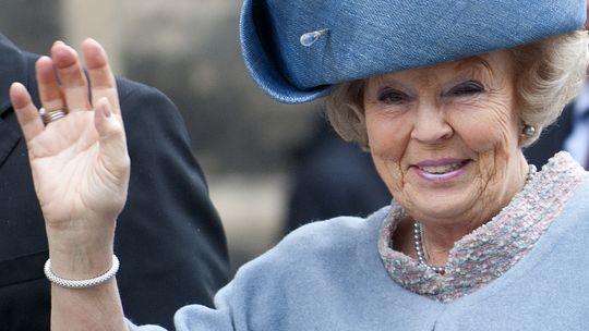 Königin Beatrix bei einem Besuch in Dresden