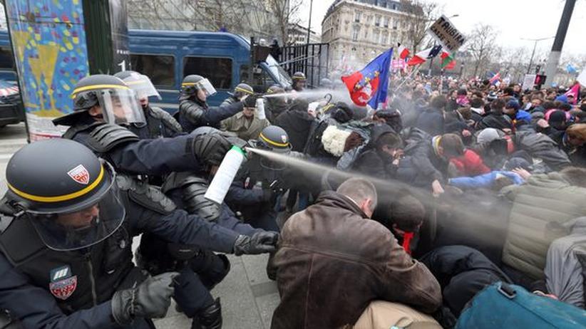 Frankreich: Demonstration gegen Homo-Ehe schlägt in Gewalt um