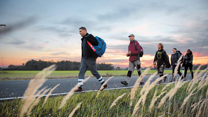 Flüchtlinge: Schüler spielen Flucht