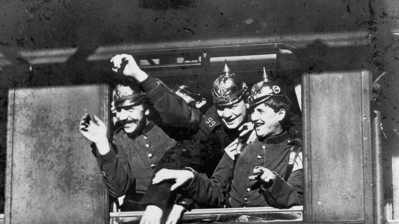 Abitur im Ersten Weltkrieg: Deutsche Soldaten im Zug