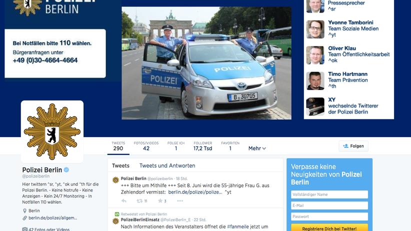 Social Media: Der Twitteraccount der Berliner Polizei