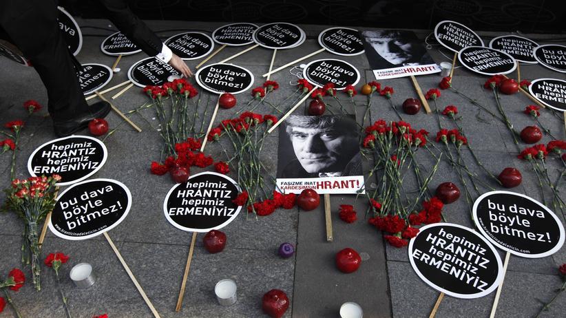 Gedenken an den ermordeten Journalisten Hrant Dink in Istanbul