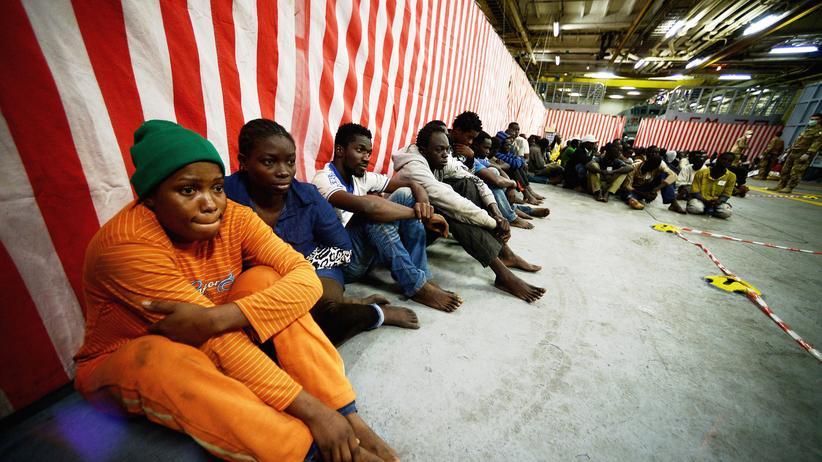 Migration: Flüchtlinge vor Lampedusa