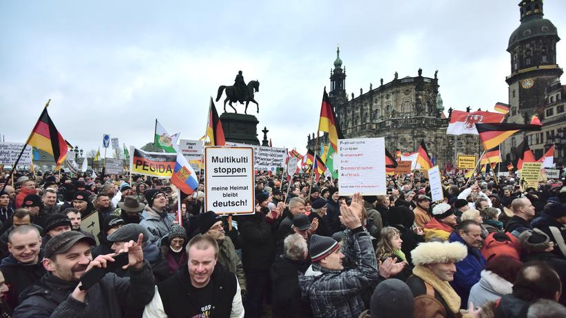 Ostdeutschland: Pegida-Demonstration am 25. Januar in Dresden