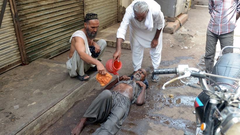Pakistan Karatschi Hitze