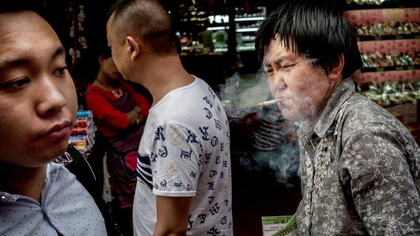 Rauchen: Tabakkonsum ist in China weit verbreitet.