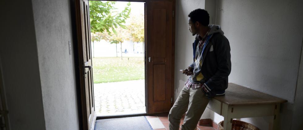 Flüchtling aus Eritrea sucht Asyl in der Schweiz