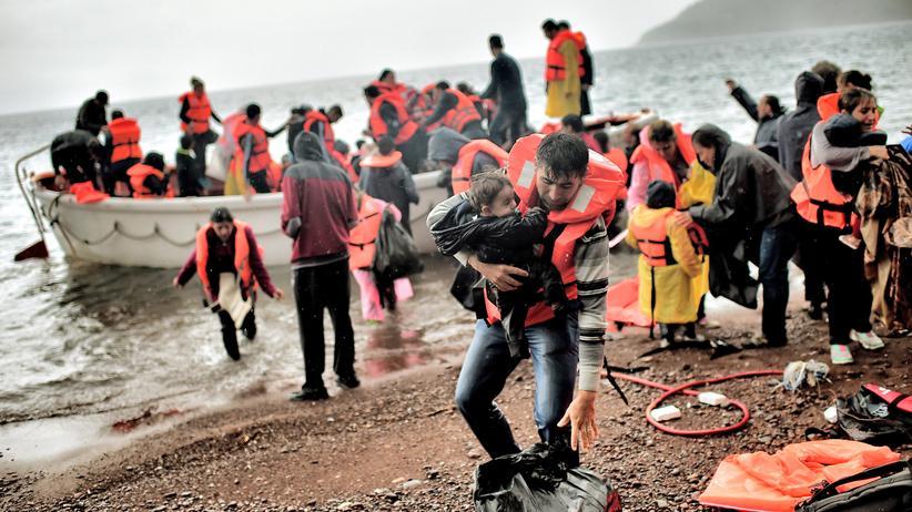 Flüchtlinge Flüchtlingskrise Lesbos Griechenland Mittelmeer