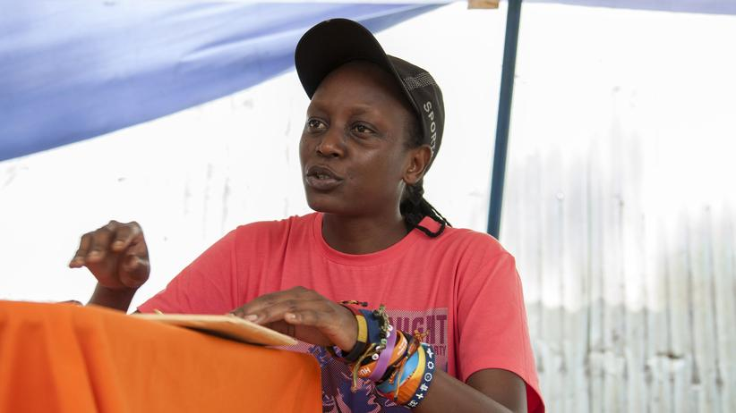 Right Livelihood Award: Die Aktivistin Kasha Jacqueline Nabagesera im Februar in der ugandischen Hauptstadt Kampala