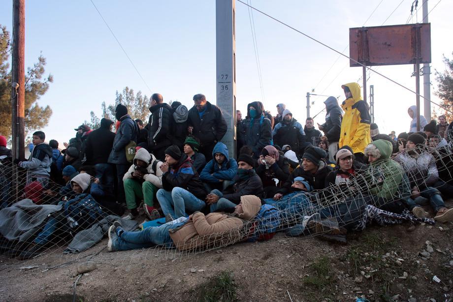 Grenze Flüchtlinge