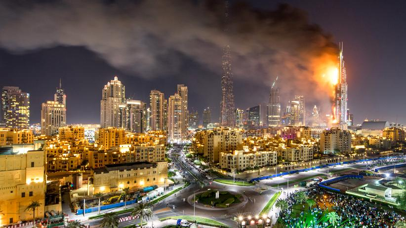 Dubai: Im Address Hotel in Dubai ist am Silvesterabend ein Großbrand ausgebrochen.