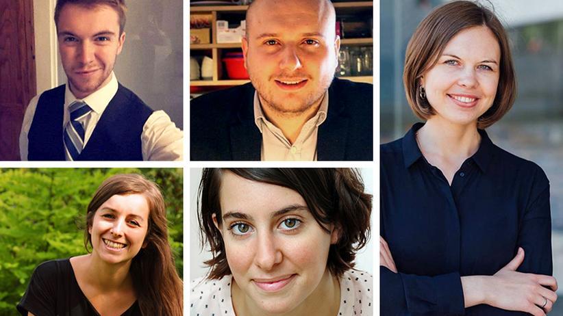 Generation Europe: Henry aus England, Alena aus Tschechien, Agon aus Mazedonien, Elisa aus Deutschland, Ljudmyla aus der Ukraine (v.l.n.r.)