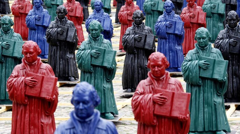 Martin Luther: Martin-Luther-Installation von Künstler Ottmar Hoerl in Wittenberg (Archivbild)