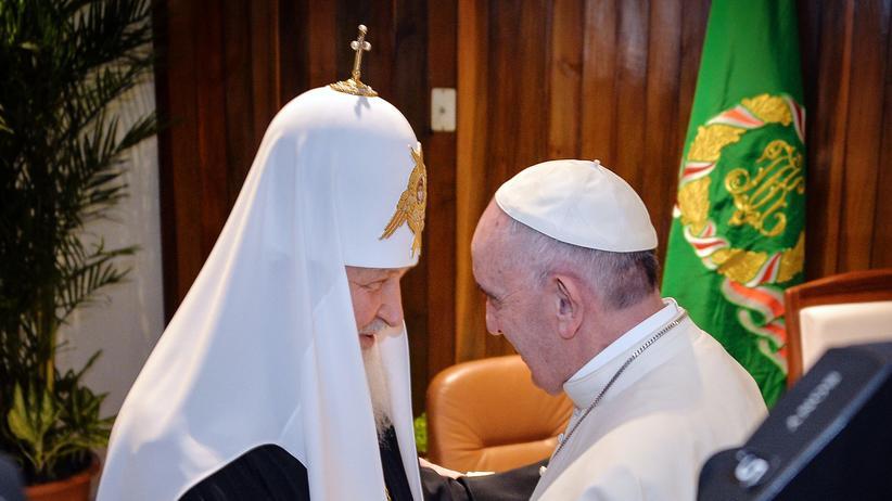 Havanna: Historische Begegnung: Patriarch Kyrill mit Papst Franziskus