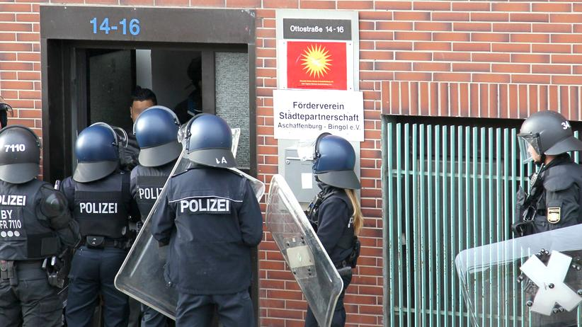 Aschaffenburg Demonstration Polizei