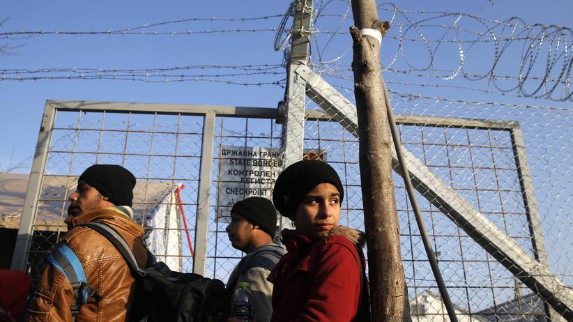 Flüchtlinge: Flüchtlinge an der griechisch-mazedonischen Grenze
