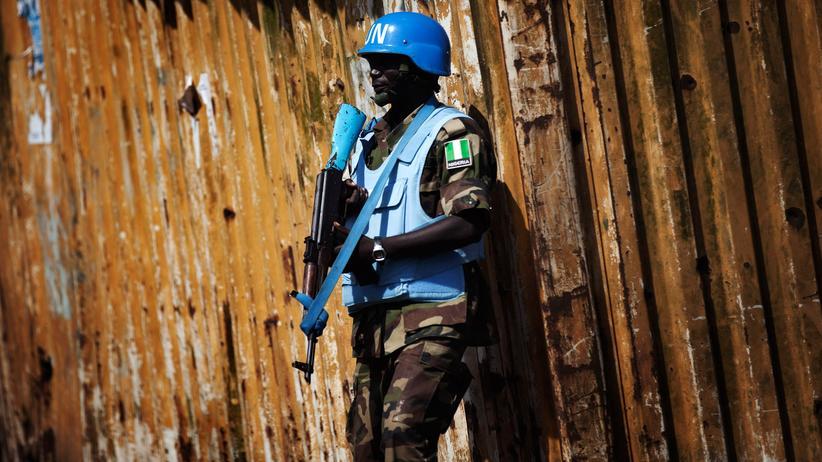 Vereinte Nationen: Ein UN-Blauhelm-Soldat aus Nigeria