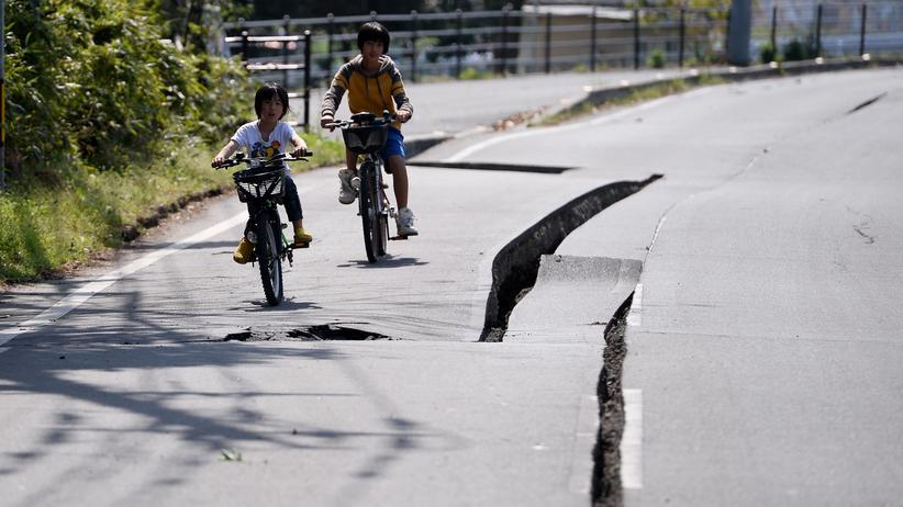 Japan: Starkes Nachbeben erschüttert Kyushu