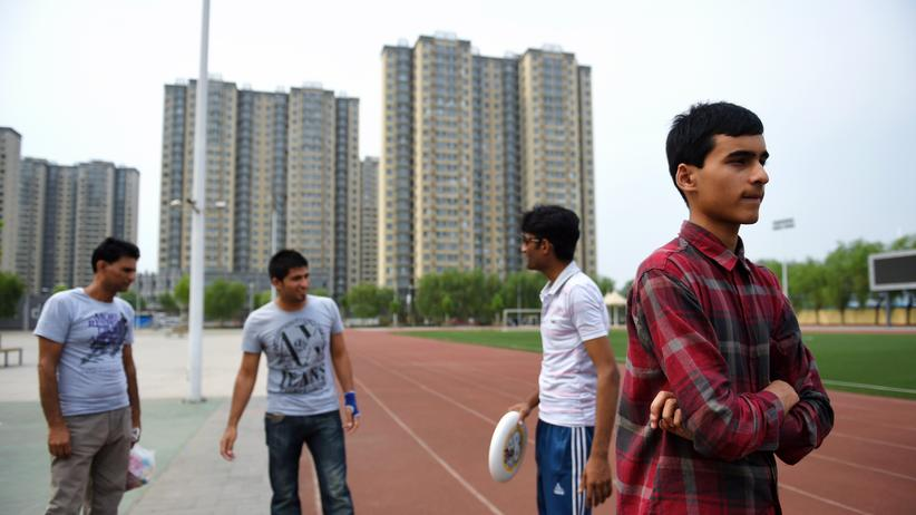 Pakistanische Flüchtlinge in einer Provinz südlich von Peking