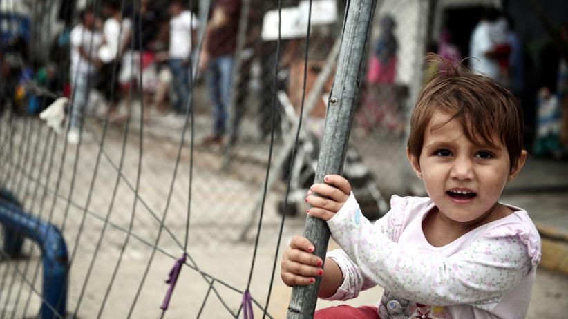 Zuwanderung: Ein Kind in einem Flüchtlingscamp in Athen
