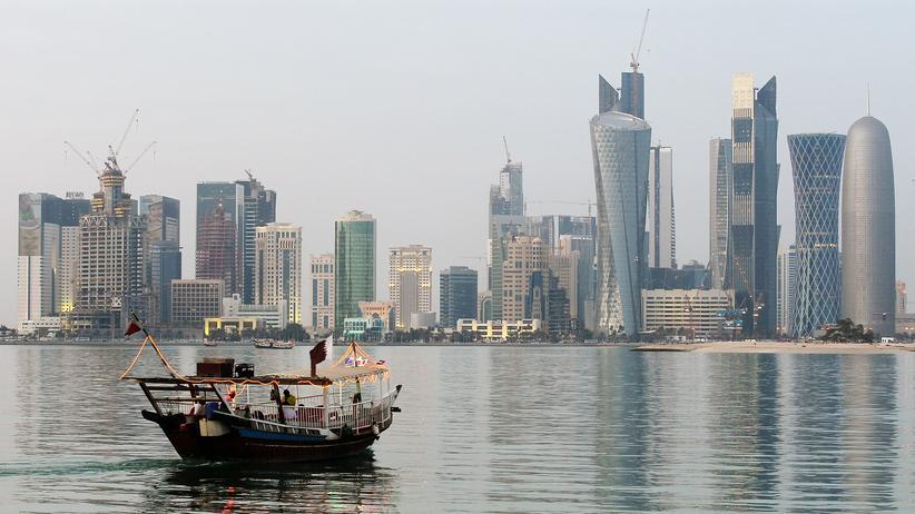 Katar: Blick auf die Hauptstadt von Katar, Doha