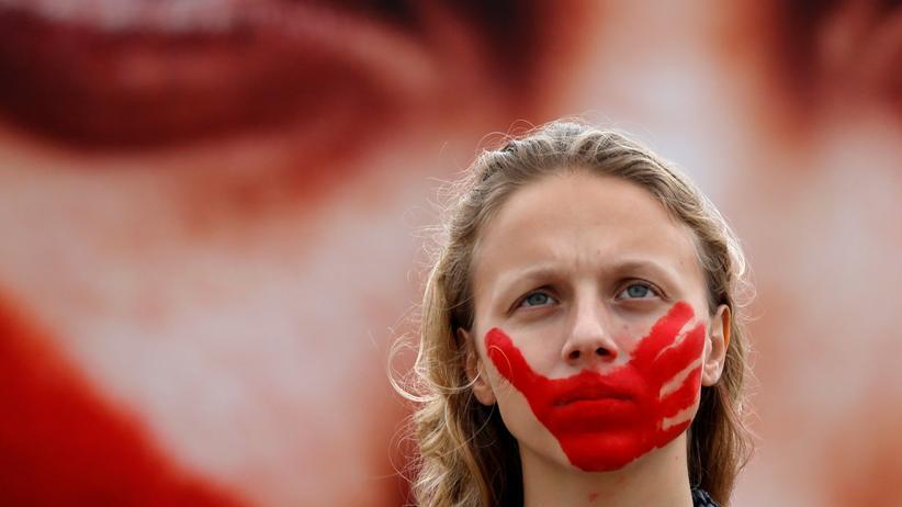 Sexualstrafrecht: Protest gegen Gewalt gegen Frauen in Brasilien