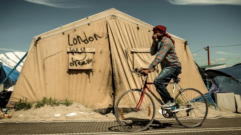 Migration: Zelte im Flüchtlingscamp The Jungle im französischen Calais
